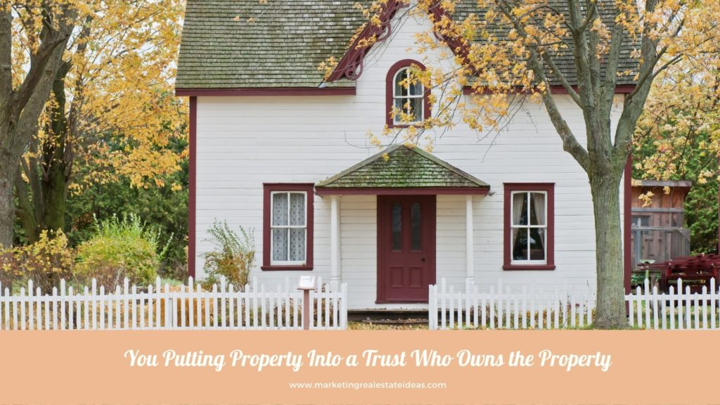 Who owns the property in a trust