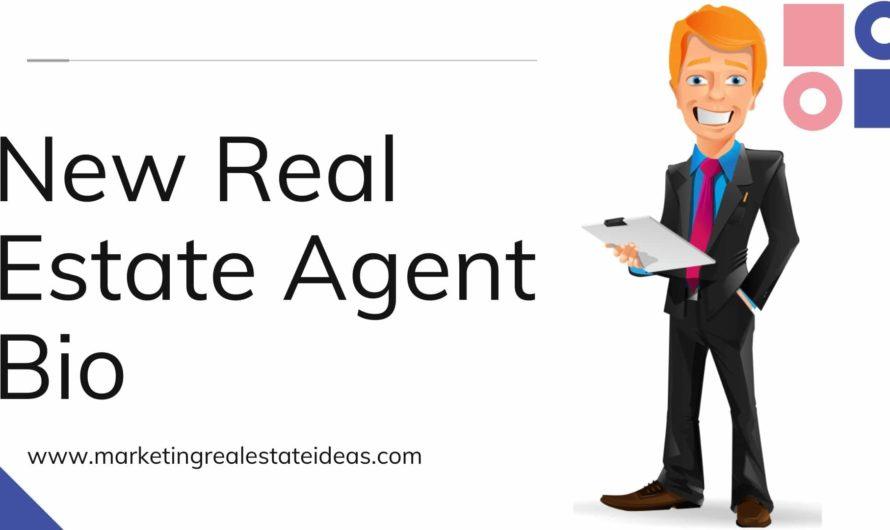 New Real Estate Agent Bio Professionally Prepared Samples