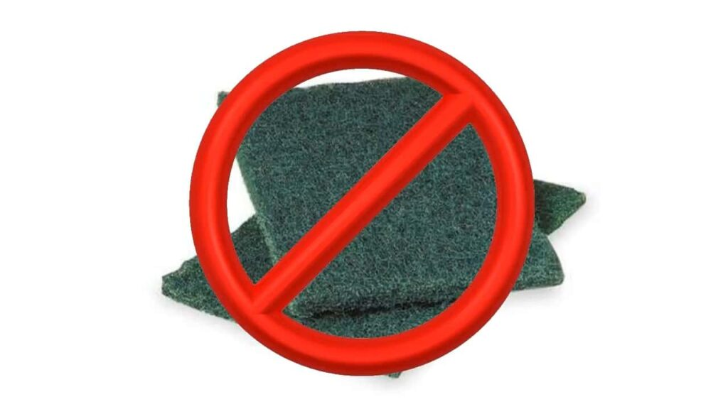 Don't Use Green Scrubby Sponges